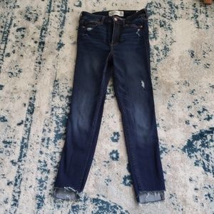 48 HR SALE Abercrombie high rise super skinnies